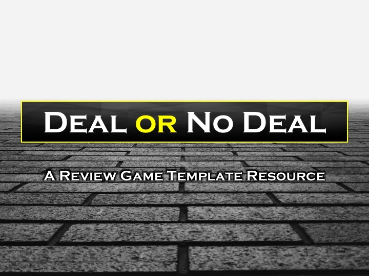 deal or no deal review game template mystere education